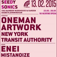 Seedy Sonics Valentines Party - Oneman, Artwork, Enei and NYTA