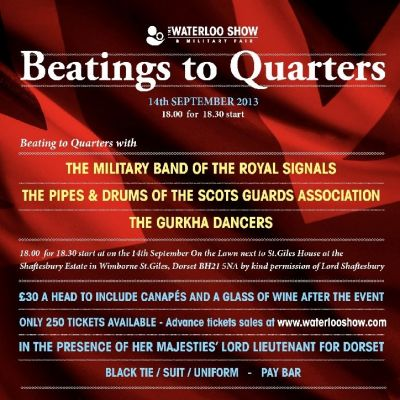 Beatings to Quarters Tickets | St. Giles House Wimborne St. Giles,   | Sat 14th September 2013 Lineup